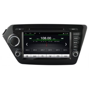 Kia Rio S160 Android 4.4.4 Autoradio GPS DVD avec HD Ecran tactile Support Smartphone Bluetooth kit main libre Microphone RDS CD SD USB 3G Wifi TV MirrorLink - S160 Android 4.4.4 Autoradio Lecteur DVD GPS Compatible pour Kia Rio (2011-2014)