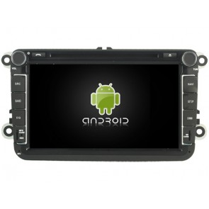 Skoda Fabia Android 7.1 Autoradio DVD GPS avec 2G Ram Ecran tactile Commande au volant et Kit mains libres Bluetooth Micro DAB+ CD SD USB 4G Wifi TV MirrorLink OBD2 - Android 7.1.1 Autoradio Lecteur DVD GPS Compatible pour Skoda Fabia (2007-2014)