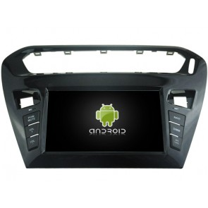 Citroën C-Elysée Android 6.0.1 Autoradio DVD GPS avec Octa Core 2G Ram Ecran tactile Commande au volant et Kit mains libres Bluetooth Micro DAB+ CD USB 4G Wifi TV MirrorLink OBD2 - Android 6.0.1 Autoradio Lecteur DVD GPS Compatible pour Citroën C-Elysée