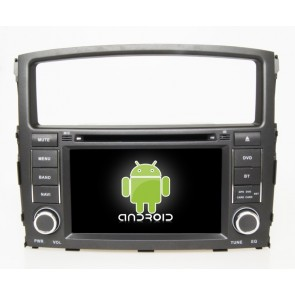 Mitsubishi Pajero IV Android 6.0 Autoradio DVD GPS Navigation avec Ecran tactile Bluetooth Telecommande au Volant Disque Dur Micro RDS CD USB 4G Wifi TV MirrorLink OBD2 - Android 6.0 Autoradio Lecteur DVD GPS Compatible pour Mitsubishi Pajero IV (De 2006)