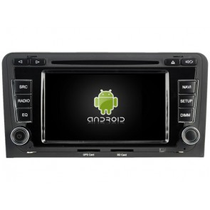 Audi A3 Android 7.1 Autoradio DVD GPS avec 2G Ram Ecran tactile Commande au volant et Kit mains libres Bluetooth Micro DAB+ CD SD USB 4G Wifi TV MirrorLink OBD2 - Android 7.1.1 Autoradio Lecteur DVD GPS Compatible pour Audi A3