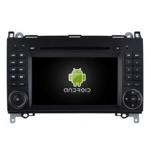 Mercedes Sprinter Android 7.1 Autoradio DVD GPS avec 2G Ram Ecran tactile Commande au volant et Kit mains libres Bluetooth Micro DAB+ CD USB 4G Wifi TV MirrorLink OBD2 - Android 7.1.1 Autoradio Lecteur DVD GPS Compatible pour Mercedes Sprinter (2006-2013)