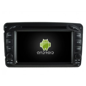 Mercedes W463 Android 7.1 Autoradio DVD GPS avec 2G Ram Ecran tactile Commande au volant et Kit mains libres Bluetooth Micro DAB+ USB 4G Wifi TV MirrorLink OBD2 - Android 7.1.1 Autoradio Lecteur DVD GPS Compatible pour Mercedes Classe G W463 (1998-2006)