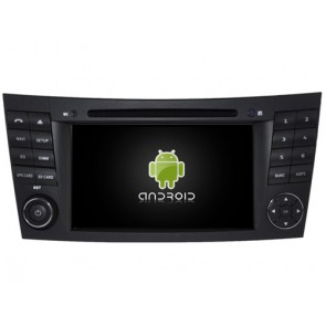 Mercedes W211 Android 7.1 Autoradio DVD GPS avec 2G Ram Ecran tactile Commande au volant et Kit mains libres Bluetooth Micro DAB+ CD USB 4G Wifi TV MirrorLink OBD2 - Android 7.1.1 Autoradio Lecteur DVD GPS Compatible pour Mercedes Classe E W211 (2002-2009