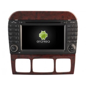 Mercedes W220 Android 7.1 Autoradio DVD GPS avec 2G Ram Ecran tactile Commande au volant et Kit mains libres Bluetooth Micro DAB+ CD USB 4G Wifi TV MirrorLink OBD2 - Android 7.1.1 Autoradio Lecteur DVD GPS Compatible pour Mercedes Classe S W220 (1998-2005