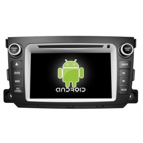 Smart ForTwo Android 6.0 Autoradio DVD GPS Navigation avec Ecran tactile Bluetooth Telecommande au Volant Disque Dur Micro RDS CD SD USB 4G Wifi TV MirrorLink OBD2 - Android 6.0 Autoradio Lecteur DVD GPS Compatible pour Smart Fortwo (2010-2014)