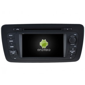 Seat Ibiza Android 7.1 Autoradio DVD GPS avec 2G Ram Ecran tactile Commande au volant et Kit mains libres Bluetooth Micro DAB+ CD SD USB 4G Wifi TV MirrorLink OBD2 - Android 7.1.1 Autoradio Lecteur DVD GPS Compatible pour Seat Ibiza (2008-2015)