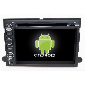 Ford Fusion Android 6.0 Autoradio DVD GPS Navigation avec Ecran tactile Bluetooth Telecommande au Volant Disque Dur Micro RDS CD SD USB 4G Wifi TV MirrorLink OBD2 - Android 6.0 Autoradio Lecteur DVD GPS Compatible pour Ford Fusion (2005-2009)