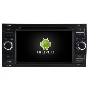 Ford Galaxy Android 7.1 Autoradio DVD GPS avec 2G Ram Ecran tactile Commande au volant et Kit mains libres Bluetooth Micro DAB+ CD SD USB 4G Wifi TV MirrorLink OBD2 - Android 7.1.1 Autoradio Lecteur DVD GPS Compatible pour Ford Galaxy (2000-2009)