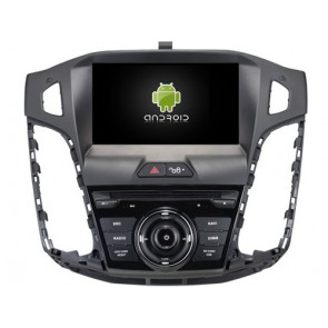 Ford Focus Android 6.0.1 Autoradio DVD GPS avec Octa Core 2G Ram Ecran tactile Commande au volant et Kit mains libres Bluetooth Micro DAB+ CD USB 4G Wifi TV MirrorLink OBD2 - Android 6.0.1 Autoradio Lecteur DVD GPS Compatible pour Ford Focus (2012-2014)