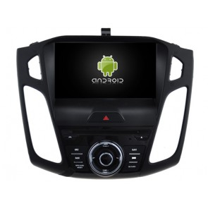Ford Focus Android 6.0.1 Autoradio DVD GPS avec Octa Core 2G Ram Ecran tactile Commande au volant et Kit mains libres Bluetooth Micro DAB+ CD USB 4G Wifi TV MirrorLink OBD2 - Android 6.0.1 Autoradio Lecteur DVD GPS Compatible pour Ford Focus (De 2015)