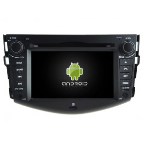 Toyota RAV4 Android 6.0.1 Autoradio DVD GPS avec Octa Core 2G Ram Ecran tactile Commande au volant et Kit mains libres Bluetooth Micro DAB+ CD USB 4G Wifi TV MirrorLink OBD2 - Android 6.0.1 Autoradio Lecteur DVD GPS Compatible pour Toyota RAV4 (2006-2012)