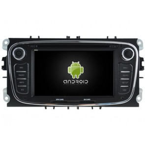 Ford S-Max Android 7.1 Autoradio DVD GPS avec 2G Ram Ecran tactile Commande au volant et Kit mains libres Bluetooth Micro DAB+ CD SD USB 4G Wifi TV MirrorLink OBD2 - Android 7.1.1 Autoradio Lecteur DVD GPS Compatible pour Ford S-Max (2008-2012)