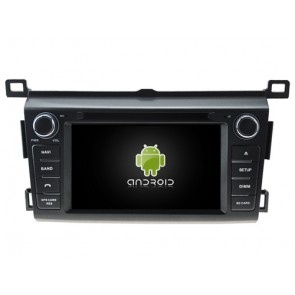 Toyota RAV4 Android 7.1 Autoradio DVD GPS avec 2G Ram Ecran tactile Commande au volant et Kit mains libres Bluetooth Micro DAB+ CD SD USB 4G Wifi TV MirrorLink OBD2 - Android 7.1.1 Autoradio Lecteur DVD GPS Compatible pour Toyota RAV4 (De 2013)
