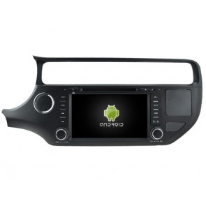 Kia Pride Android 7.1 Autoradio DVD GPS avec 2G Ram Ecran tactile Commande au volant et Kit mains libres Bluetooth Micro DAB+ CD SD USB 4G Wifi TV MirrorLink OBD2 - Android 7.1.1 Autoradio Lecteur DVD GPS Compatible pour Kia Pride (De 2015)