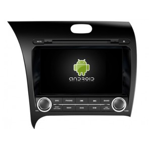 Kia Forte Android 7.1 Autoradio DVD GPS avec 2G Ram Ecran tactile Commande au volant et Kit mains libres Bluetooth Micro DAB+ CD SD USB 4G Wifi TV MirrorLink OBD2 - Android 7.1.1 Autoradio Lecteur DVD GPS Compatible pour Kia Forte (De 2013)