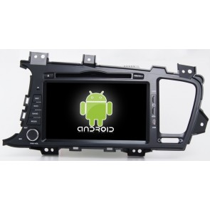 Kia Optima Android 6.0 Autoradio DVD GPS Navigation avec Ecran tactile Bluetooth Telecommande au Volant Disque Dur Micro RDS CD SD USB 4G Wifi TV MirrorLink OBD2 - Android 6.0 Autoradio Lecteur DVD GPS Compatible pour Kia Optima (2010-2013)