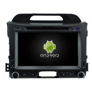Kia Sportage Android 7.1 Autoradio DVD GPS avec 2G Ram Ecran tactile Commande au volant et Kit mains libres Bluetooth Micro DAB+ CD SD USB 4G Wifi TV MirrorLink OBD2 - Android 7.1.1 Autoradio Lecteur DVD GPS Compatible pour Kia Sportage (2010-2015)