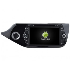 Kia Ceed Android 7.1 Autoradio DVD GPS avec 2G Ram Ecran tactile Commande au volant et Kit mains libres Bluetooth Micro DAB+ CD SD USB 4G Wifi TV MirrorLink OBD2 - Android 7.1.1 Autoradio Lecteur DVD GPS Compatible pour Kia Ceed (De 2012)