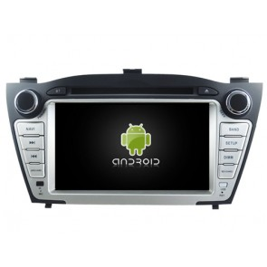 Hyundai Tucson Android 7.1 Autoradio DVD GPS avec 2G Ram Ecran tactile Commande au volant et Kit mains libres Bluetooth Micro DAB+ CD SD USB 4G Wifi TV MirrorLink OBD2 - Android 7.1.1 Autoradio Lecteur DVD GPS Compatible pour Hyundai Tucson (2009-2015)