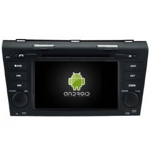 Mazda 3 Android 6.0.1 Autoradio DVD GPS avec Octa Core 2G Ram Ecran tactile Commande au volant et Kit mains libres Bluetooth Micro DAB+ CD SD USB 4G Wifi TV MirrorLink OBD2 - Android 6.0.1 Autoradio Lecteur DVD GPS Compatible pour Mazda 3 (2003-2009)
