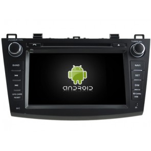 Mazda 3 Android 7.1 Autoradio DVD GPS avec 2G Ram Ecran tactile Commande au volant et Kit mains libres Bluetooth Micro DAB+ CD SD USB 4G Wifi TV MirrorLink OBD2 - Android 7.1.1 Autoradio Lecteur DVD GPS Compatible pour Mazda 3 (2009-2013)