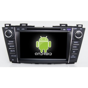 Mazda 5 Android 6.0 Autoradio DVD GPS Navigation avec Ecran tactile Bluetooth Telecommande au Volant Disque Dur Micro RDS CD SD USB 4G Wifi TV MirrorLink OBD2 - Android 6.0 Autoradio Lecteur DVD GPS Compatible pour Mazda 5 (2009-2013)