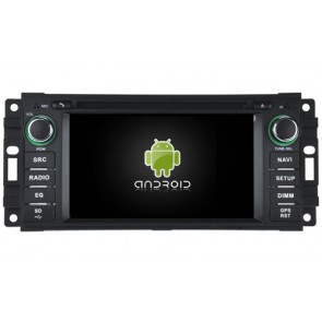 Chrysler Aspen Android 7.1 Autoradio DVD GPS avec 2G Ram Ecran tactile Commande au volant et Kit mains libres Bluetooth Micro DAB+ CD SD USB 4G Wifi TV MirrorLink OBD2 - Android 7.1.1 Autoradio Lecteur DVD GPS Compatible pour Chrysler Aspen (De 2008)