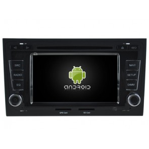 Audi RS4 Android 6.0.1 Autoradio DVD GPS avec Octa Core 2G Ram Ecran tactile Commande au volant et Kit mains libres Bluetooth Micro DAB+ CD SD USB 4G Wifi TV MirrorLink OBD2 - Android 6.0.1 Autoradio Lecteur DVD GPS Compatible pour Audi RS4 (2002-2008)