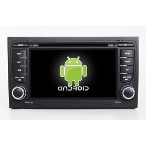 Audi RS4 Android 6.0 Autoradio DVD GPS Navigation avec Ecran tactile Bluetooth Telecommande au Volant Disque Dur Micro RDS CD SD USB 4G Wifi TV MirrorLink OBD2 - Android 6.0 Autoradio Lecteur DVD GPS Compatible pour Audi RS4 (2000-2008)