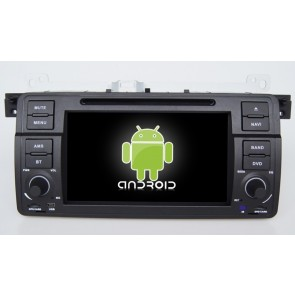 BMW Série 3 E46 Android 6.0 Autoradio DVD GPS Navigation avec Ecran tactile Bluetooth Telecommande au Volant Disque Dur Micro RDS CD SD USB 4G Wifi TV MirrorLink OBD2 - Android 6.0 Autoradio Lecteur DVD GPS Compatible pour BMW Série 3 E46