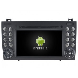 Mercedes SLK280 Android 6.0.1 Autoradio DVD GPS avec Octa Core 2G Ram Ecran tactile Commande au volant et Kit mains libres Bluetooth Micro DAB+ USB 4G Wifi TV MirrorLink OBD2 - Android 6.0.1 Autoradio Lecteur DVD GPS Compatible pour Mercedes SLK280