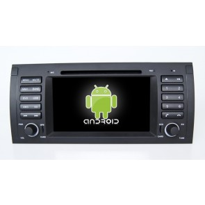 BMW Série 5 E39 Android 6.0 Autoradio DVD GPS Navigation avec Ecran tactile Bluetooth Telecommande au Volant Disque Dur Micro RDS CD SD USB 4G Wifi TV MirrorLink OBD2 - Android 6.0 Autoradio Lecteur DVD GPS Compatible pour BMW Série 5 E39