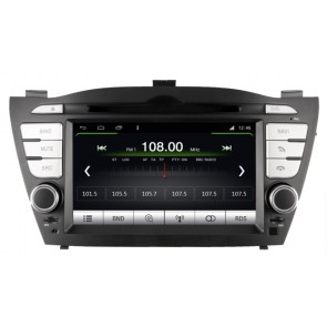 Hyundai Tucson S160 Android 4.4.4 Autoradio GPS DVD avec HD Ecran tactile Support Smartphone Bluetooth kit main libre Microphone RDS CD SD USB 3G Wifi TV MirrorLink - S160 Android 4.4.4 Autoradio Lecteur DVD GPS Compatible pour Hyundai Tucson (2009-2013)