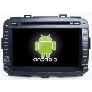 Kia Carens Android 6.0 Autoradio DVD GPS Navigation avec Ecran tactile Bluetooth Telecommande au Volant Disque Dur Micro RDS CD SD USB 4G Wifi TV MirrorLink OBD2 - Android 6.0 Autoradio Lecteur DVD GPS Compatible pour Kia Carens (De 2013)