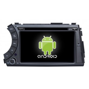 SsangYong Kyron Android 6.0 Autoradio DVD GPS Navigation avec Ecran tactile Bluetooth Telecommande au Volant Disque Dur Micro RDS CD SD USB 4G Wifi TV MirrorLink OBD2 - Android 6.0 Autoradio Lecteur DVD GPS Compatible pour SsangYong Kyron (2005-2015)