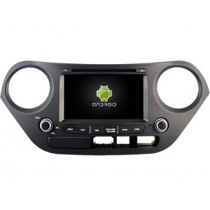 Hyundai i10 Android 7.1 Autoradio DVD GPS avec 2G Ram Ecran tactile Commande au volant et Kit mains libres Bluetooth Micro DAB+ CD SD USB 4G Wifi TV MirrorLink OBD2 - Android 7.1.1 Autoradio Lecteur DVD GPS Compatible pour Hyundai i10 (De 2014)