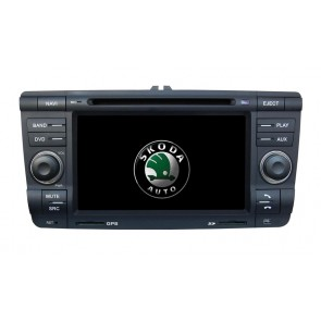 Skoda Laura S160 Android 4.4.4 Autoradio GPS DVD avec HD Ecran tactile Support Smartphone Bluetooth kit main libre Microphone RDS CD SD USB 3G Wifi TV MirrorLink - S160 Android 4.4.4 Autoradio Lecteur DVD GPS Compatible pour Skoda Laura