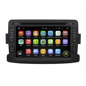 Dacia Logan Android 5.1.1 Autoradio DVD GPS Navigation Avec Ecran tactile capacitif Bluetooth RDS CD USB SD TV 3G Wifi Internet MirrorLink OBD2 - Android 5.1.1 Autoradio Lecteur DVD GPS Compatible pour Dacia Logan