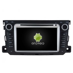 Smart ForTwo Android 7.1 Autoradio DVD GPS avec 2G Ram Ecran tactile Commande au volant et Kit mains libres Bluetooth Micro DAB+ CD SD USB 4G Wifi TV MirrorLink OBD2 - Android 7.1.1 Autoradio Lecteur DVD GPS Compatible pour Smart ForTwo (2010-2014)