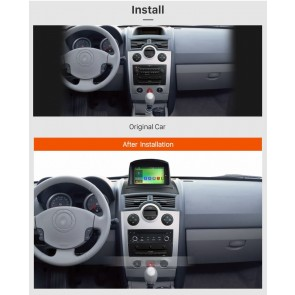 Renault Megane II Android 6.0.1 Autoradio DVD GPS avec Octa Core 2G Ram Ecran tactile Commande au volant et Kit mains libres Bluetooth Micro DAB+ CD USB 4G Wifi TV MirrorLink OBD2 - Android 6.0.1 Autoradio Lecteur DVD GPS Compatible pour Renault Megane II