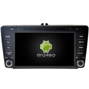 Skoda Octavia II Android 7.1 Autoradio DVD GPS avec 2G Ram Ecran tactile Commande au volant et Kit mains libres Bluetooth Micro DAB+ CD SD USB 4G Wifi TV MirrorLink OBD2 - Android 7.1.1 Autoradio Lecteur DVD GPS Compatible pour Skoda Octavia II (2004-2012