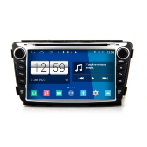 Hyundai Verna S160 Android 4.4.4 Autoradio GPS DVD avec HD Ecran tactile Support Smartphone Bluetooth kit main libre Microphone RDS CD SD USB 3G Wifi TV MirrorLink - S160 Android 4.4.4 Autoradio Lecteur DVD GPS Compatible pour Hyundai Verna