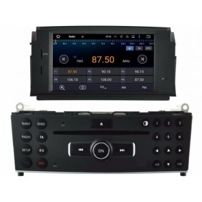 Mercedes Classe C C200 Android 5.1.1 Autoradio DVD GPS Navigation avec Ecran tactile Bluetooth Telecommande au Volant DAB+ Microphone RDS CD SD USB 3G Wifi TV MirrorLink OBD2 - Android 5.1.1 Autoradio Lecteur DVD GPS Compatible pour Mercedes Classe C C200