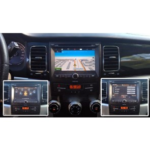SsangYong Korando S160 Android 4.4.4 Autoradio GPS DVD avec HD Ecran tactile Support Smartphone Bluetooth kit main libre Microphone RDS CD USB Wifi TV MirrorLink - S160 Android 4.4.4 Autoradio Lecteur DVD GPS Compatible pour SsangYong Korando (2010-2013)