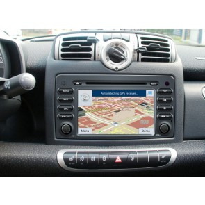 Smart ForFour S160 Android 4.4.4 Autoradio GPS DVD avec HD Ecran tactile Support Smartphone Bluetooth kit main libre Microphone RDS CD SD USB 3G Wifi TV MirrorLink - S160 Android 4.4.4 Autoradio Lecteur DVD GPS Compatible pour Smart ForFour (2004-2006)