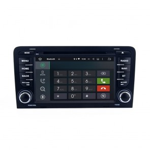 Audi A3 Android 5.1.1 Autoradio DVD GPS Navigation avec Ecran tactile Bluetooth Commande au Volant Microphone RDS CD SD USB 3G Wifi TV MirrorLink OBD2 - Android 5.1.1 Autoradio Lecteur DVD GPS Compatible pour Audi A3 (2003-2013)