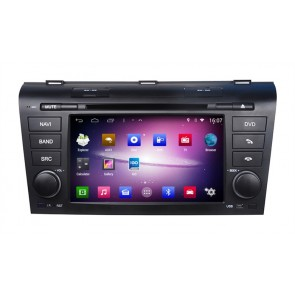 Mazda 3 S160 Android 4.4.4 Autoradio GPS DVD avec HD Ecran tactile Support Smartphone Bluetooth kit main libre Microphone RDS CD SD USB 3G Wifi TV MirrorLink - S160 Android 4.4.4 Autoradio Lecteur DVD GPS Compatible pour Mazda 3 (2003-2009)