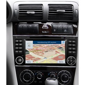 Mercedes W209 S160 Android 4.4.4 Autoradio GPS DVD avec HD Ecran tactile Support Smartphone Bluetooth kit main libre Microphone RDS CD SD USB 3G Wifi TV MirrorLink - S160 Android 4.4.4 Autoradio Lecteur DVD GPS Compatible pour Mercedes CLK W209 (2004-2011