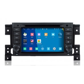 Suzuki Grand Nomade S160 Android 4.4 Autoradio GPS DVD Avec Quad-Core HD Ecran tactile capacitif multi-point Bluetooth GPS TNT Wifi DVR MirrorLink - S160 Double Système Android 4.4 Autoradio Lecteur DVD GPS Compatible pour Suzuki Grand Nomade (2005-2013)